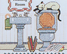 Bathroom Cross Stitch Kits
