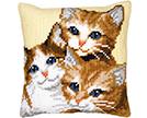 Cats Cross Stitch Cushion Kits