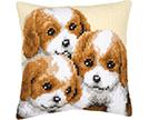 Dogs Cross Stitch Cushion Kits