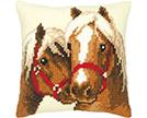Horses Cross Stitch Cushion Kits