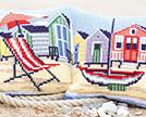 Seaside Cross Stitch Cushion Kits