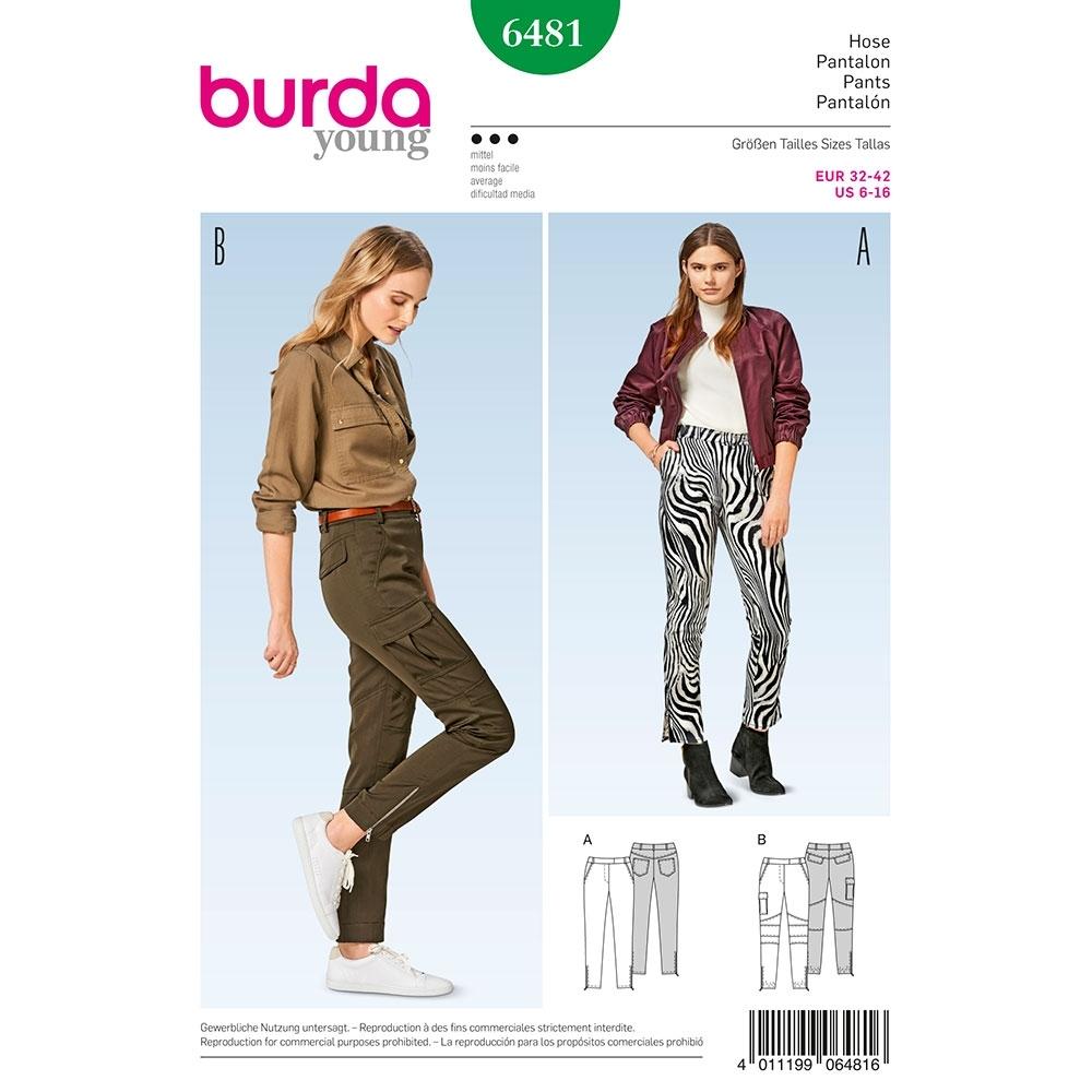 Misses Skinny Trousers Burda Sewing Pattern 6481 Sew