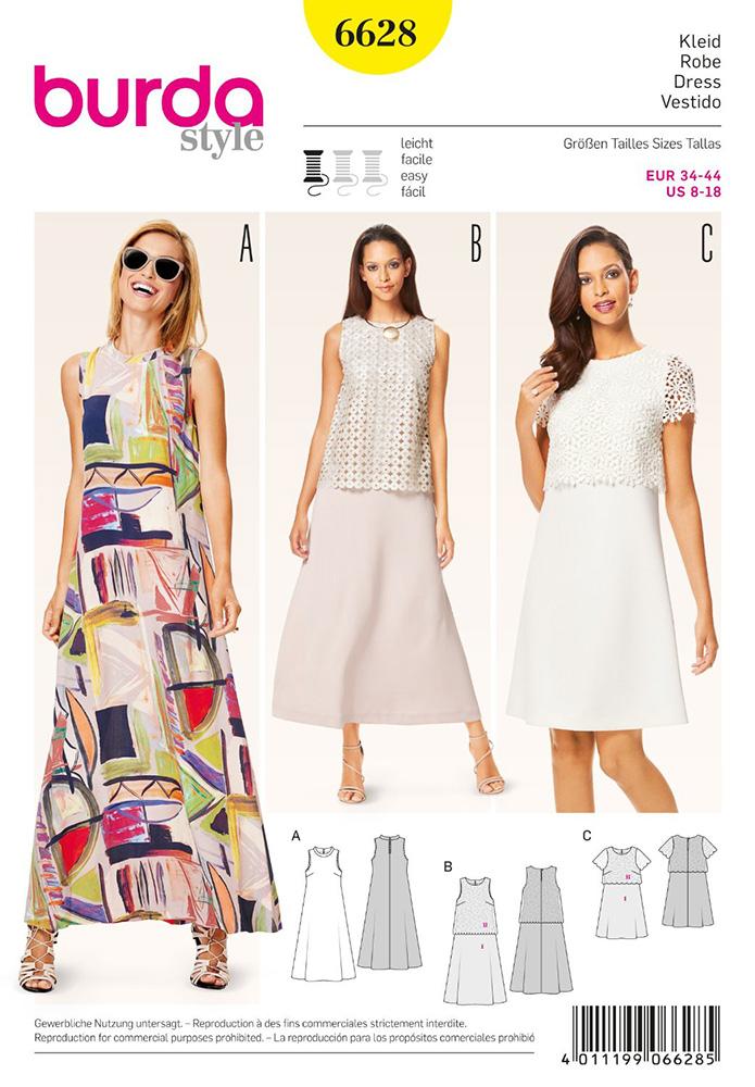 Misses Dress Burda Sewing Pattern 6628 Sew Essential