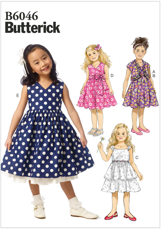Girls Shrug and Dress Butterick Pattern 6046. | Sew Essential