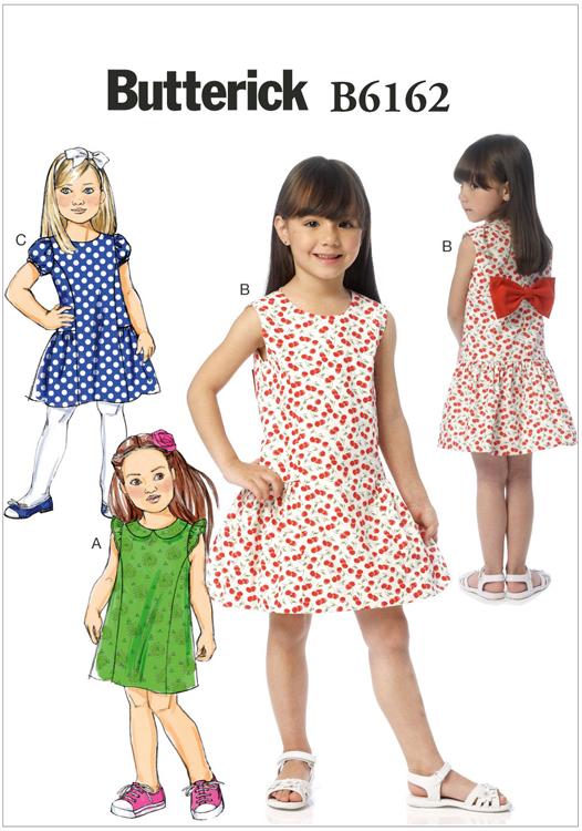 Girls Dress Butterick Sewing Pattern No. 6162. | Sew Essential