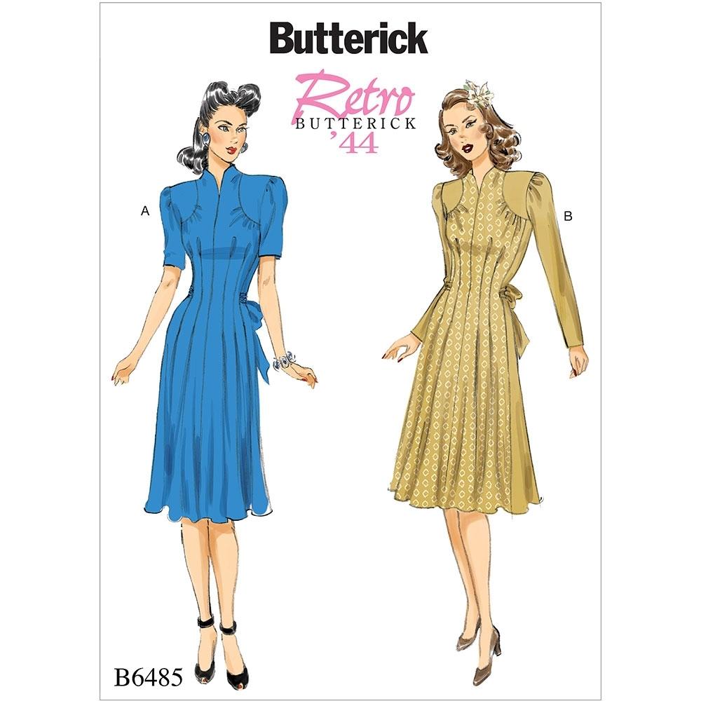 Misses Vintage Dresses Butterick Sewing Pattern 6485