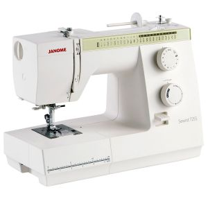 Janome 725S sewing machine angled view
