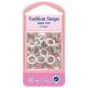 Hemline Ring Top Fashion Snaps Refill. 11mm White. 6 sets.