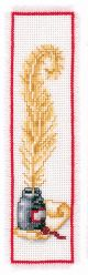 Vervaco Counted Cross Stitch Bookmark Kit. Quill and Ink.