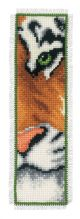 Vervaco Tiger Bookmark Counted Cross Stitch Kit