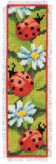 Vervaco Ladybirds Bookmark Counted Cross Stitch Kit