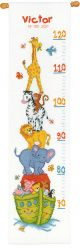 Vervaco Noahs Ark Height Chart Counted Cross Stitch Kit
