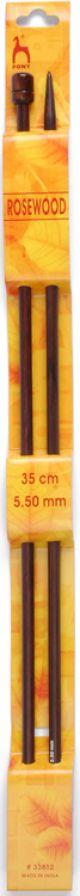 Pony Rosewood Pins. Pair. 35cm x 5.5mm.