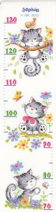 Vervaco Counted Cross Stitch Kit. Height Chart Kitten.