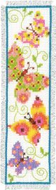 Vervaco Counted Cross Stitch Bookmark Kit. Butterflies I.