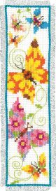 Vervaco Counted Cross Stitch Bookmark Kit. Butterflies II.