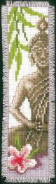 Vervaco Counted Cross Stitch Bookmark Kit. Lady Buddha.