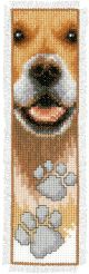 Vervaco Counted Cross Stitch Bookmark Kit. Dog Footprint.