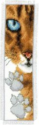 Vervaco Counted Cross Stitch Bookmark Kit. Cat Footprint.