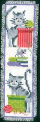 Vervaco Counted Cross Stitch Bookmark Kit. Cats 1.