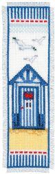 Vervaco Counted Cross Stitch Bookmark Kit. Beach Hut.