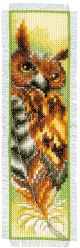 Vervaco Counted Cross Stitch Bookmark Kit. Owl.