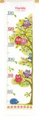 Vervaco Counted Cross Stitch Kit. Owls Height Chart.
