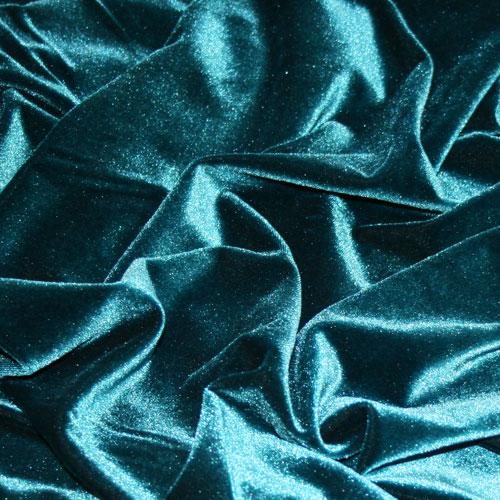 John Kaldor Carlotta Panne Velvet Fabric Teal 145cm Wide