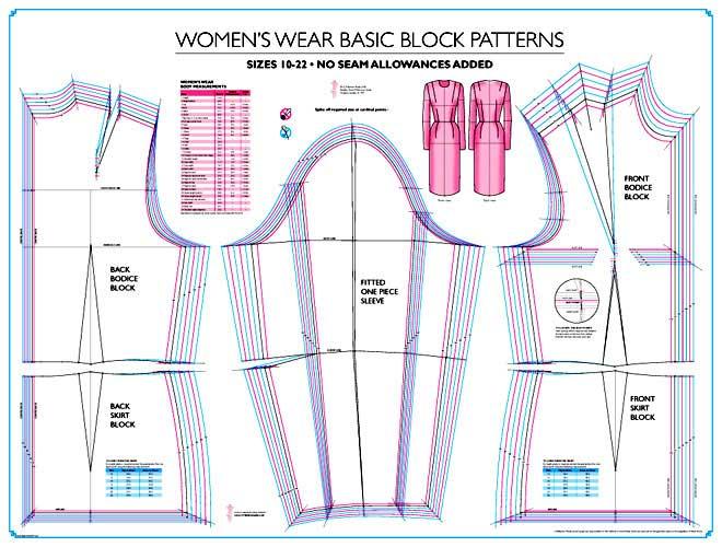 Womens Wear Basic Dress Skirt Block Sew Essential