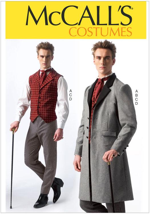 Mens Sherlock Holmes Costumes Mccalls Sewing Pattern No