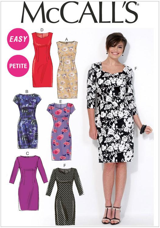 Miss Petite Dresses Mccalls Sewing Pattern No 7085 Sew