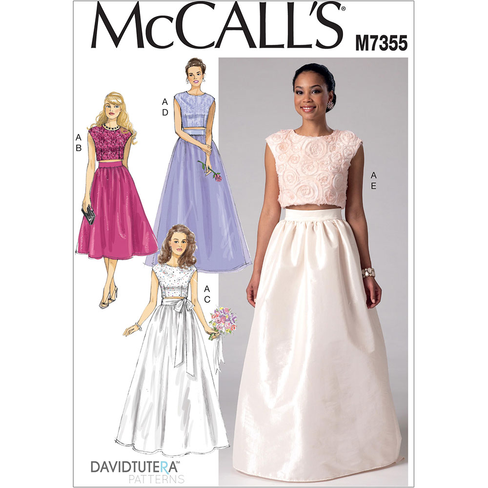 Misses Crop Top And Gathered Skirts McCalls Sewing Pattern