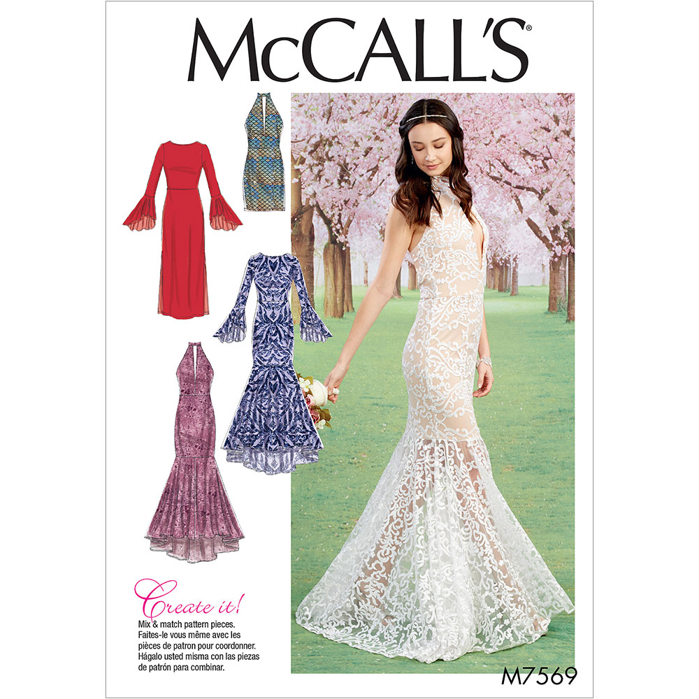 Misses Column And Mermaid-Style Dresses With Bodice And