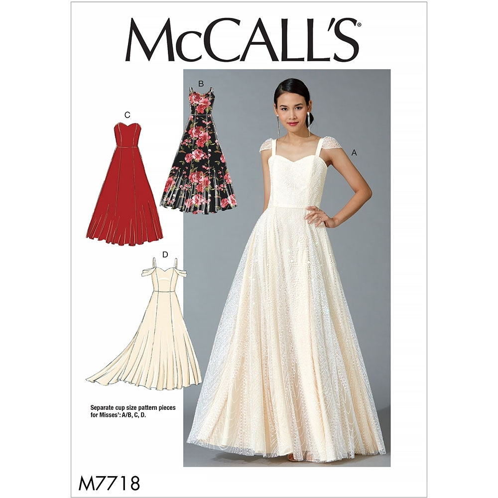 Misses Dresses McCalls Sewing Pattern 7718