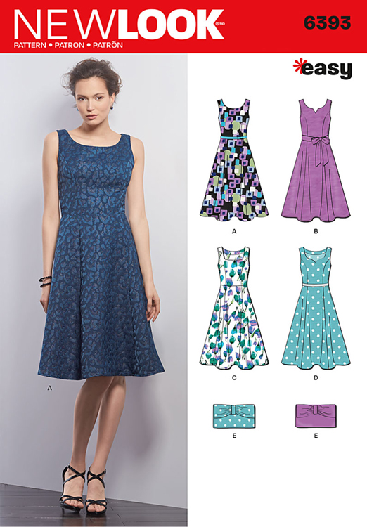 New Look 6393 Misses Dresses And Purses Sew Essential