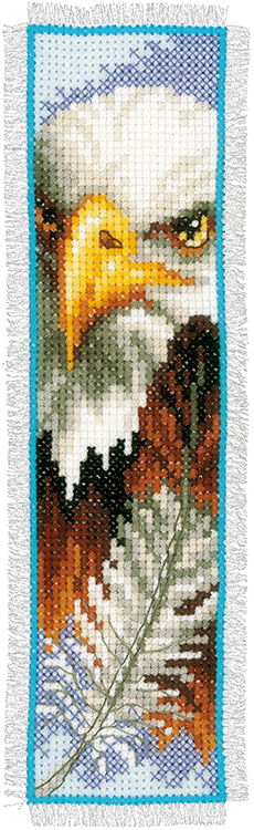 Vervaco Counted Cross Stitch Bookmark Kit Eagle Sew
