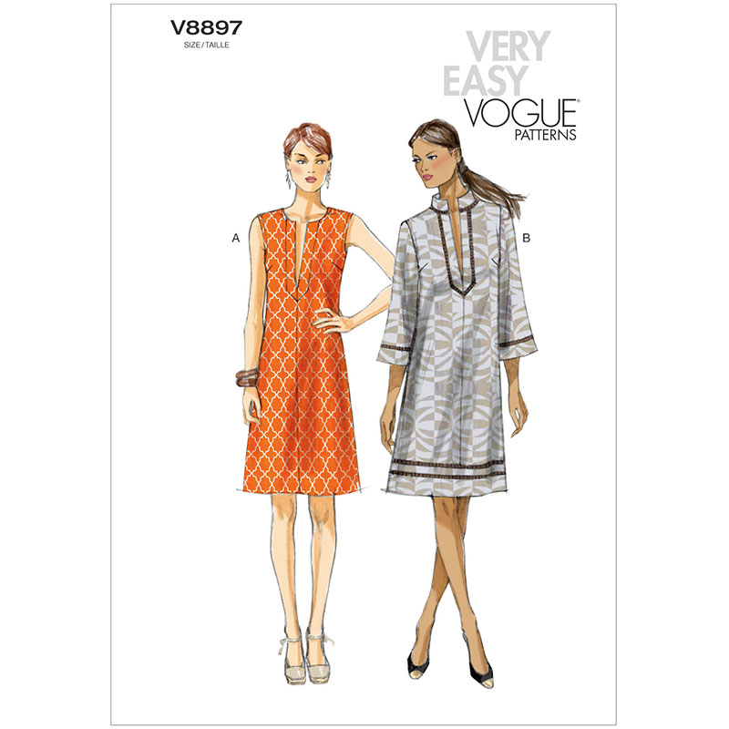 Misses Dress Vogue Pattern 8897.