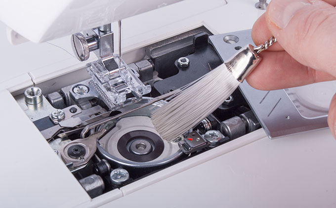 Cleaning a Sewing Machine