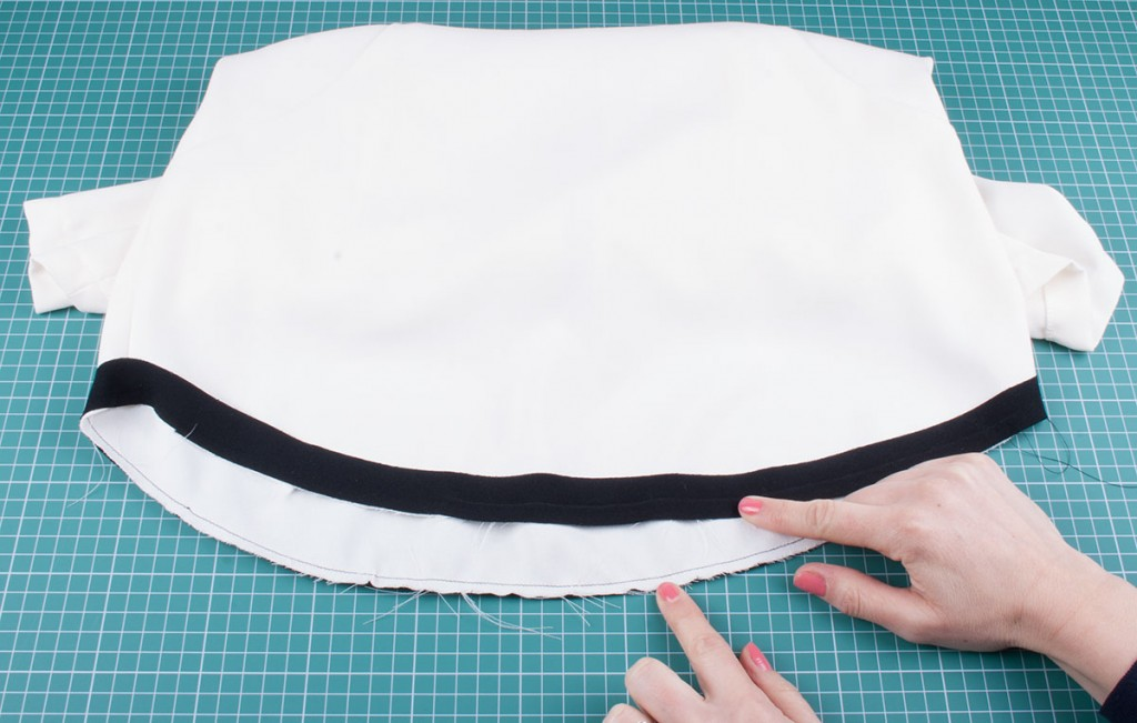 Bias Binding - Attaching to the garment