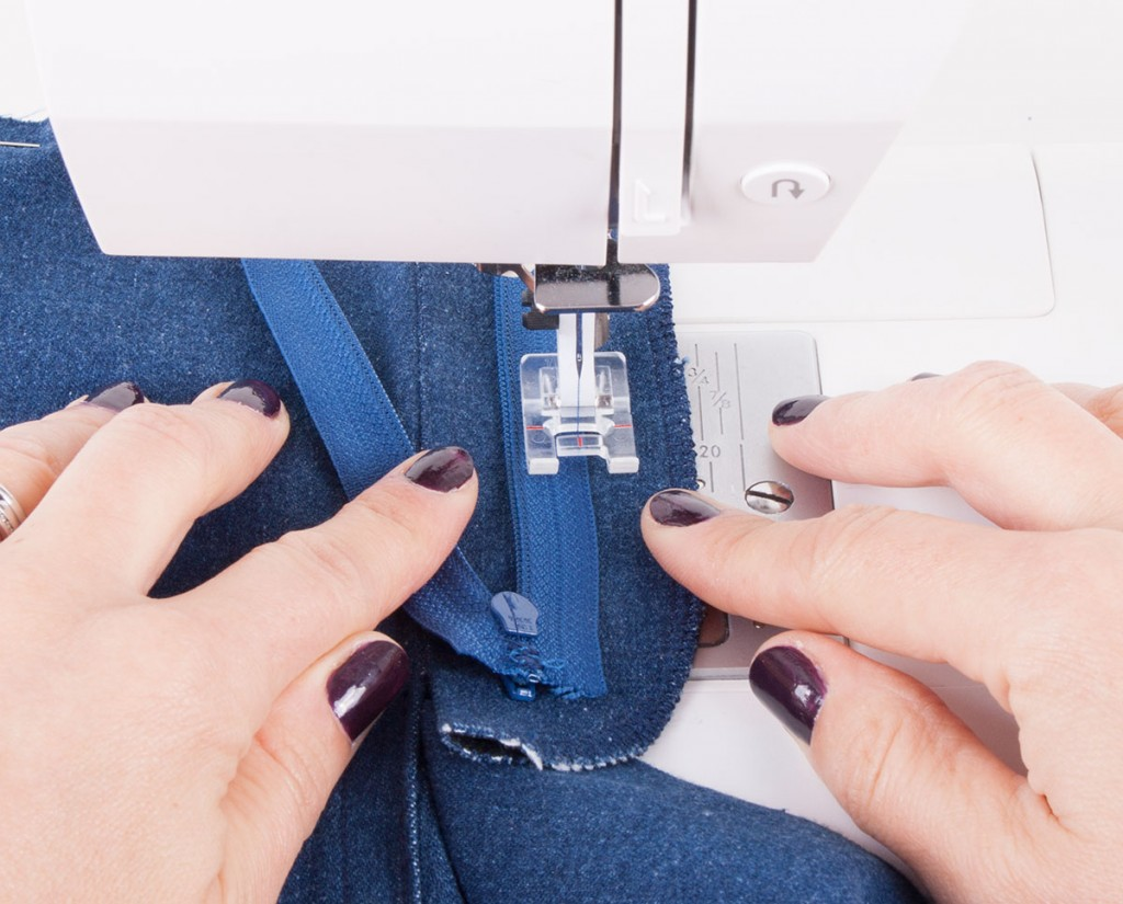 Stitch The Zip Tape In Place