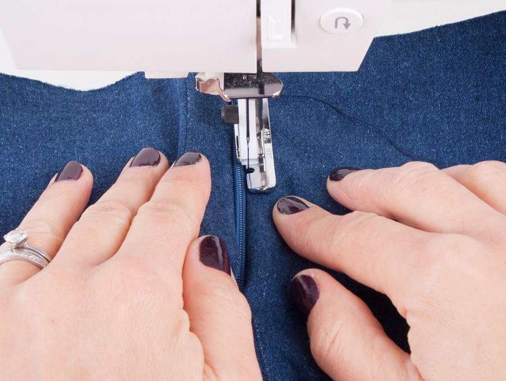 Stitching Using A Zipper Foot