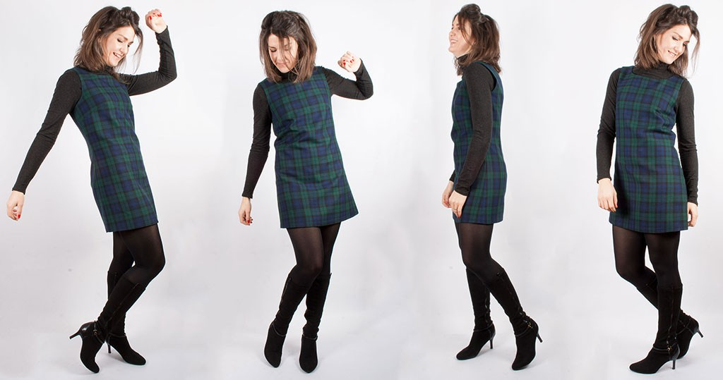 Sewing a 60s Tartan Pinafore Dress