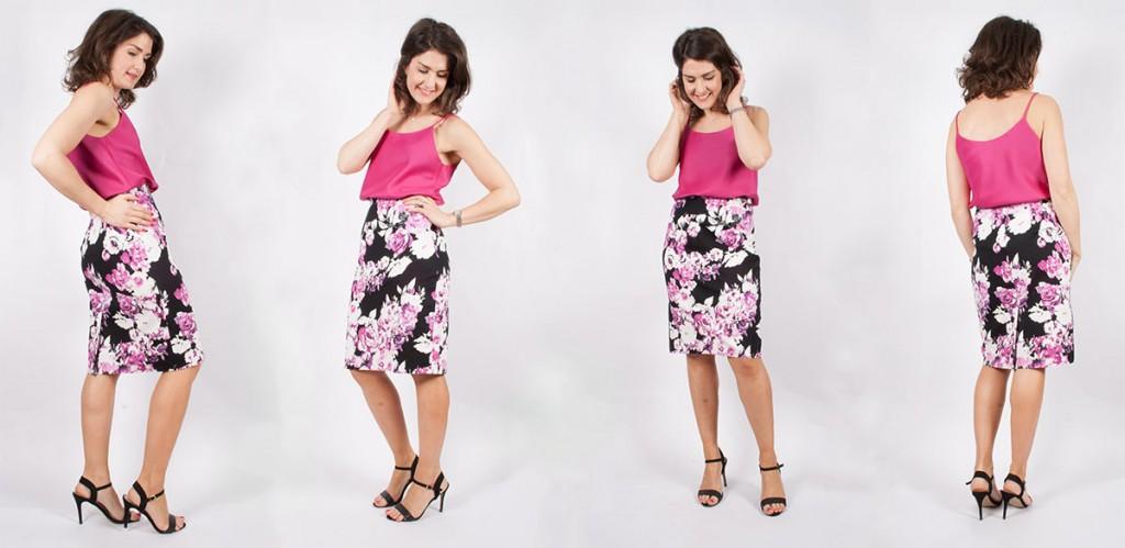Pencil Skirt Cami Top