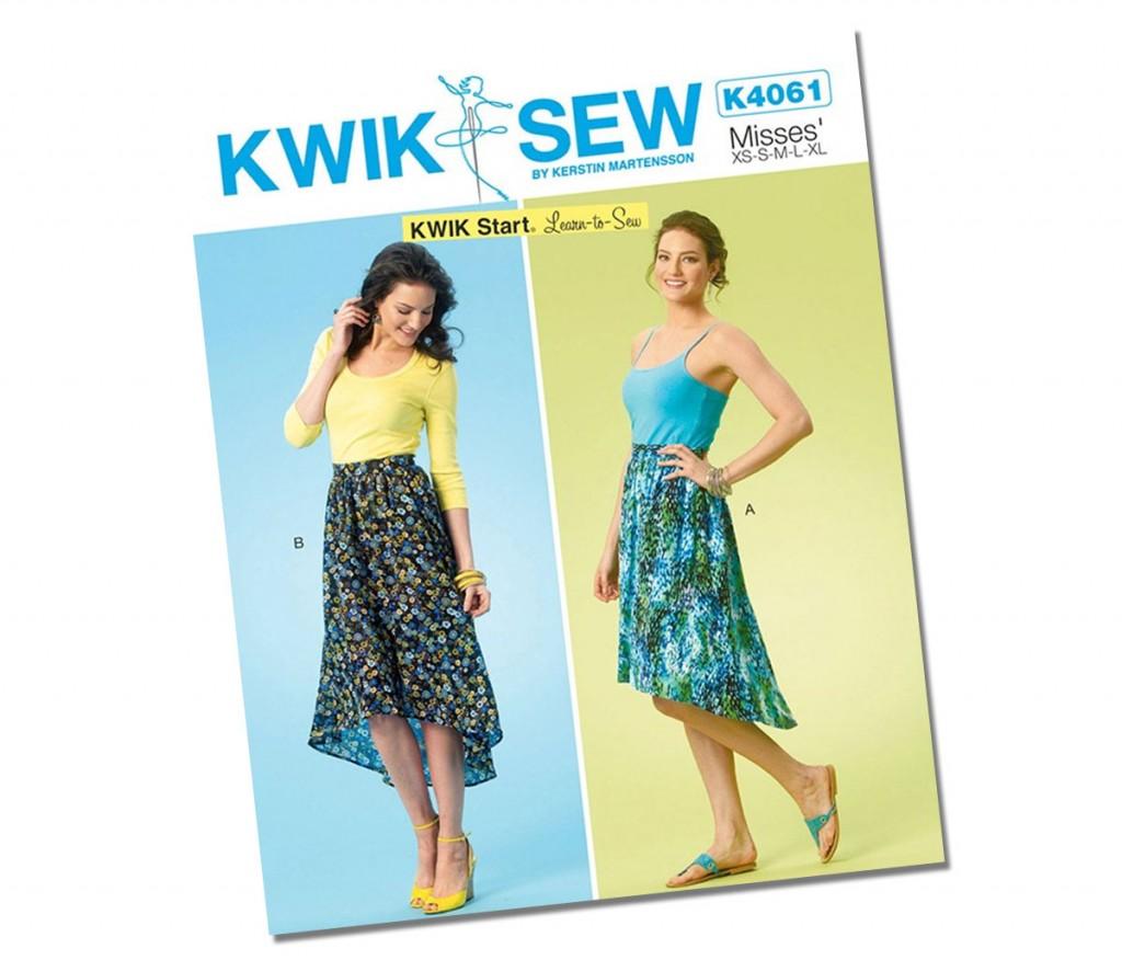 Asymmetric Skirt Pattern