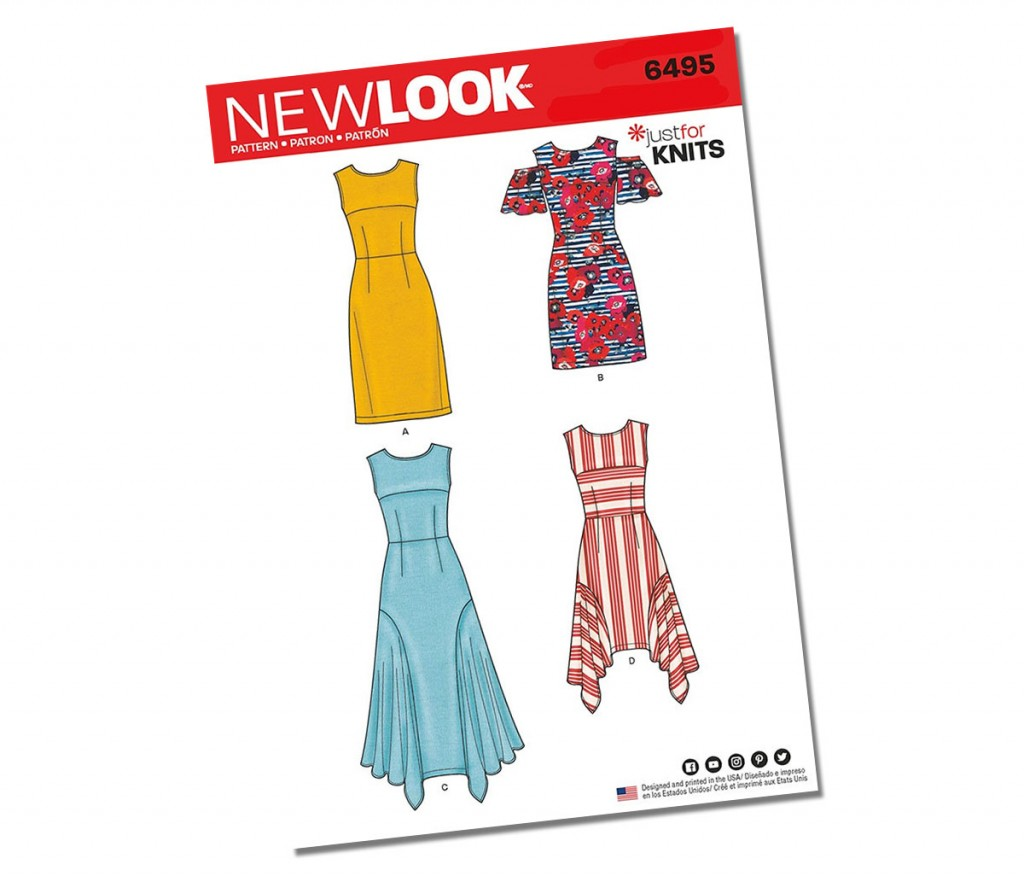 New Look Cold Shoulder Dress Pattern 6495