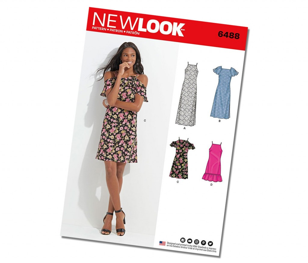 New Look Cold Shoulder Dress Pattern 6488