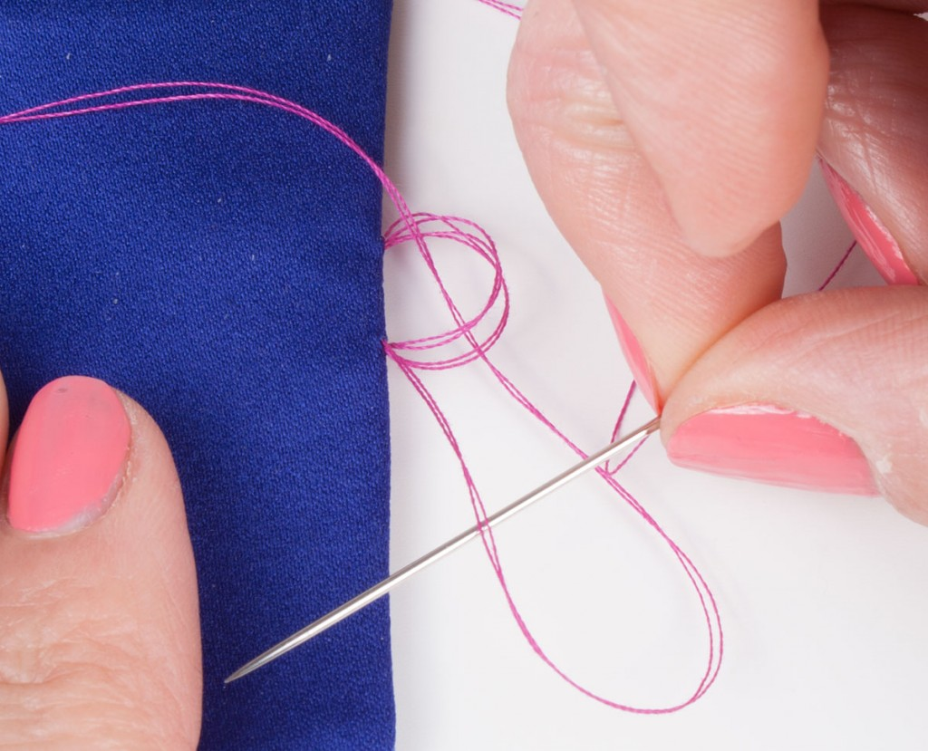 Sewing Blanket Stitches on a Hand Sewn Button Loop 2