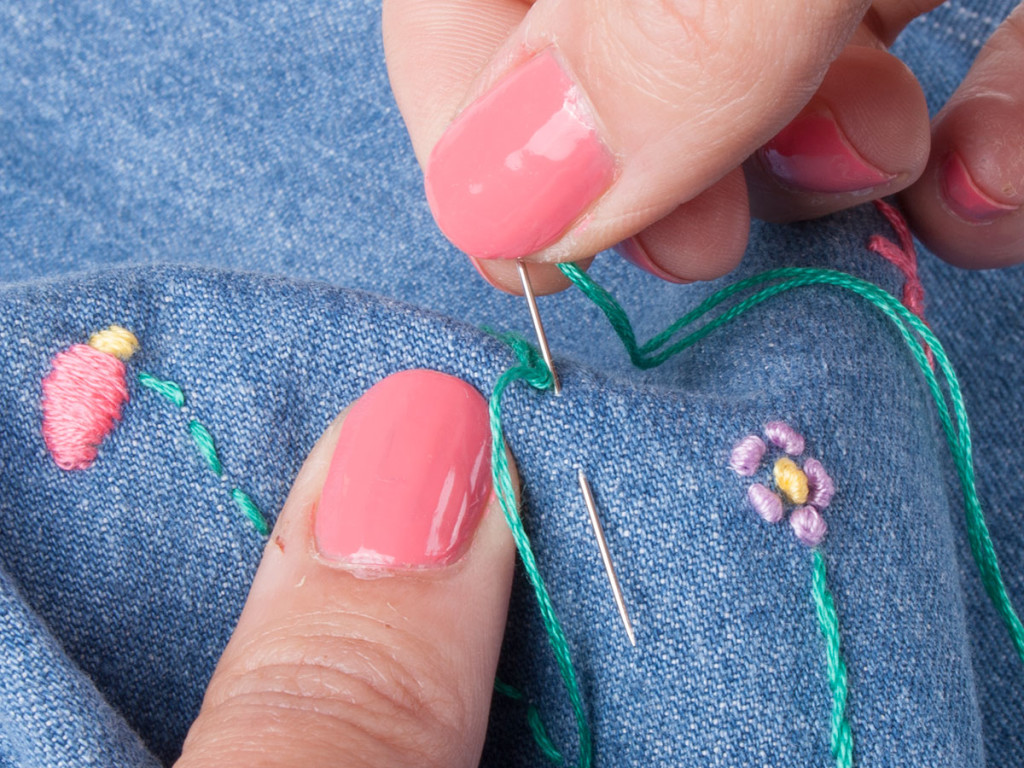 Hand Embroidery Chain Stitch 3