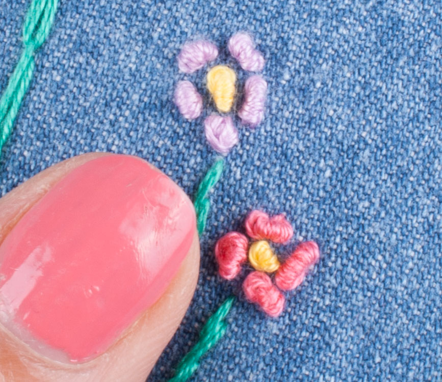 Hand Embroidery French Knot 9