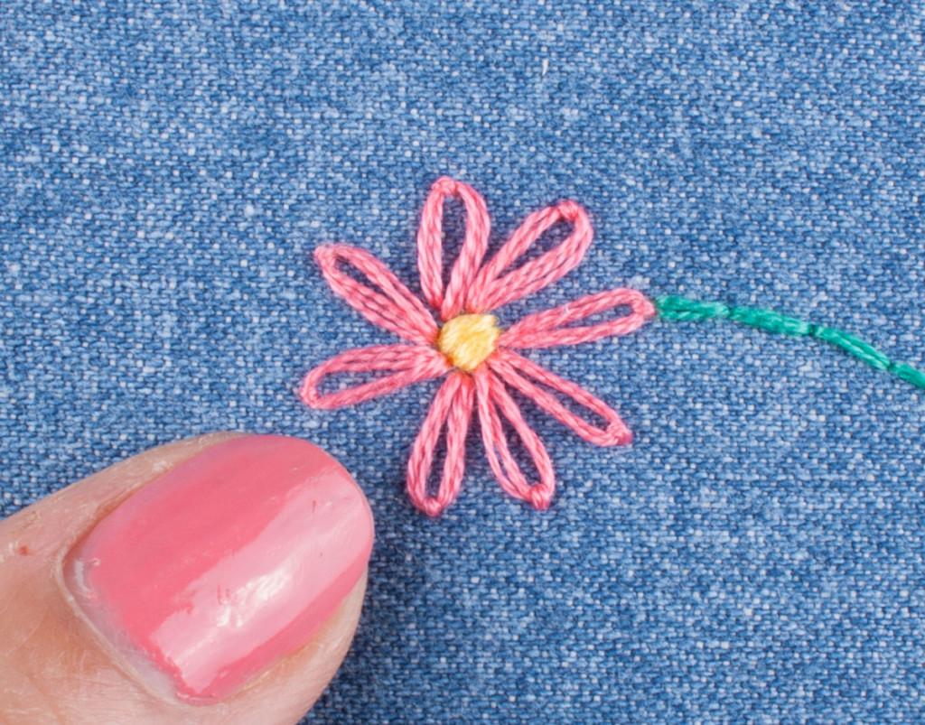 Hand Embroidery Lazy Daisy 6